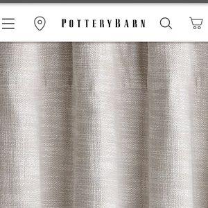 Pottery Barn Seaton textured drape